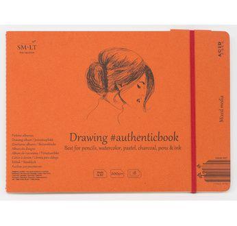 Stitched Mixed media album #Authenticbook