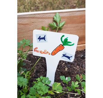 Set of 10 tag holders for gardening