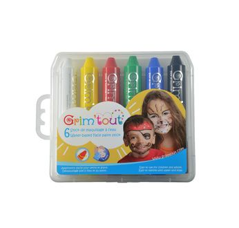 Case of 6 face painting sticks GRIM'TOUT