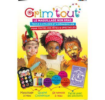 GRIM'TOUT PLV Poster de maquillage (A2)