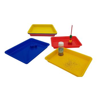 KIDDICRAFT Set of 6 colored  activity trays 28x21cm