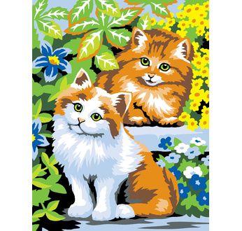 Peinture par N° débutant - Chats coquins