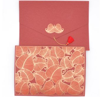 PAPERTREE NATURE Enveloppe kdo A 5 Rouge/Or