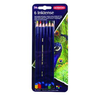 DERWENT - INKTENSE - blister 6 crayons base encre aquarell