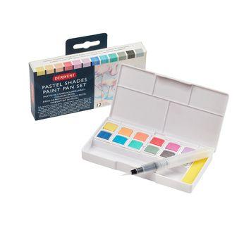 DERWENT - palette de 12 carrés aquarellables - Couleurs Pastels