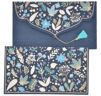 PAPERTREE WINTER Gift envelope 19x10cm Blue