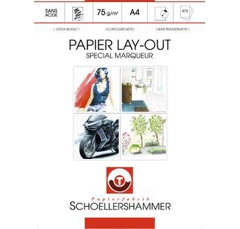SCHOELLERSHAMMER Bloc layout spécial marqueurs 75g/m2 - 75 feuilles A4
