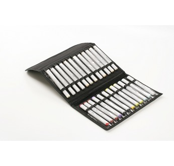Empty storage wallet for 24 alcohol-based markers - for easels