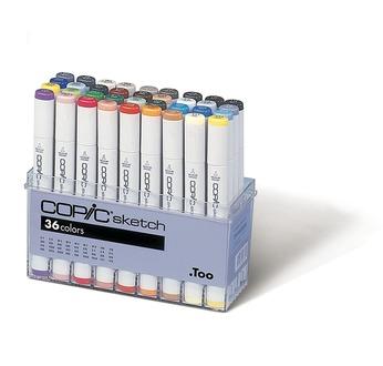Set COPIC SKETCH 36 couleurs (dont 12 gris)