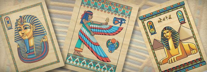 Kits peinture sur papyrus