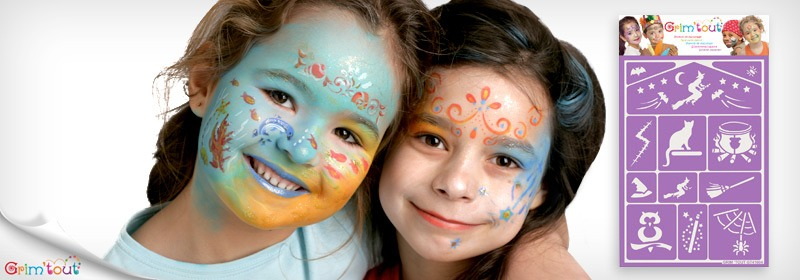Face painting stencils