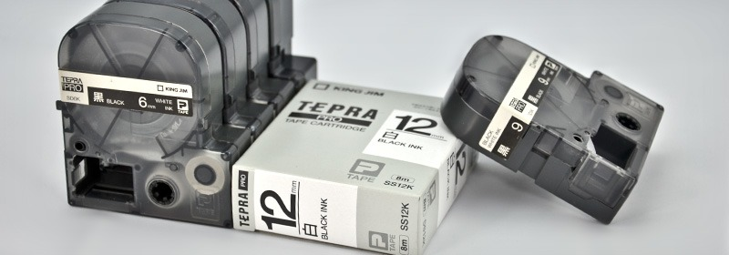 TAPE CARTRIDGE FOR TEPRA PRO LABEL PRINTER