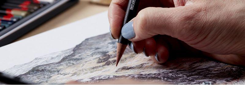 Crayons fusain teinté